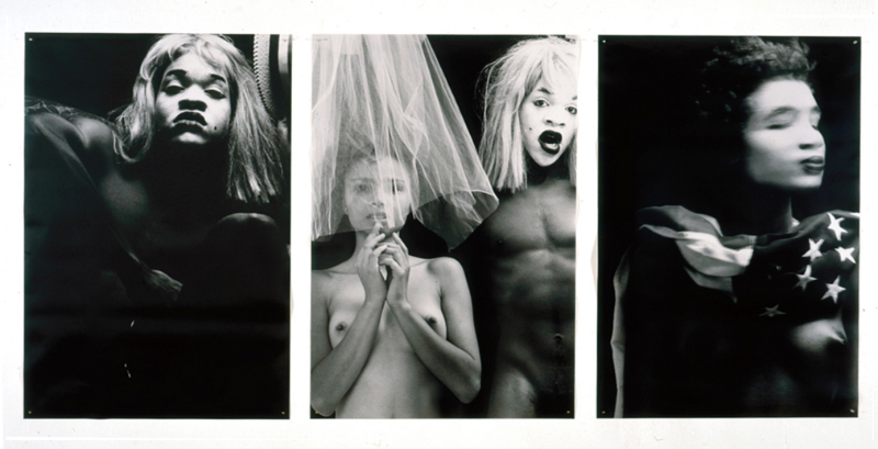 Americas (Triptych) [Miss Girl; Kym, Lyle & Crinoline; Miss America], 1987-88