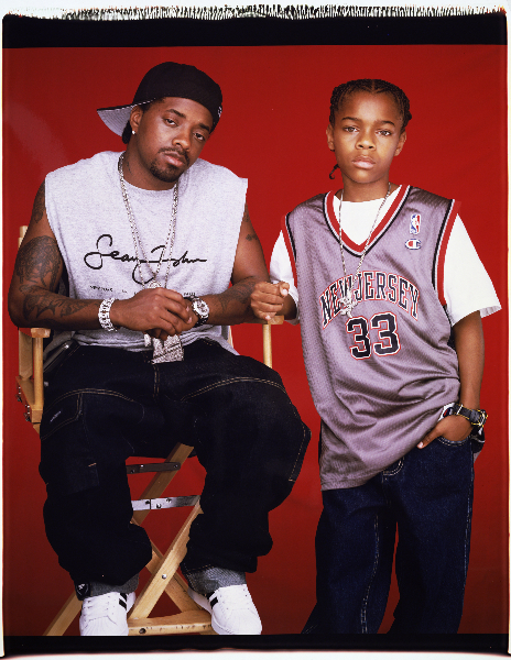 Jermaine Dupri and Bow Wow, musicians For Vibe, Sept. 2000